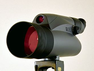 Spotting scope - A 100mm spotting scope with a paraxial 30mm finderscope