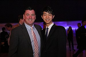 Brian Orser - Orser with Yuzuru Hanyu in 2015.
