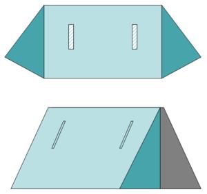 """Shelter-half - Schematics of a German Bundeswehr shelter half (""""Zeltbahn"""")"""