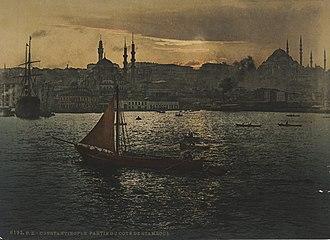 History of Istanbul - Image: Zentralbibliothek Zürich Constantinople partie du coté de Stamboul 4000006193