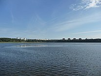 Zheleznogorsk from the other side of city lake.JPG
