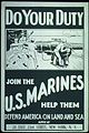 """Do Your Duty. Join the U.S. Marines. Help Them Defend America on Land and Sea. Apply 24 East 23rd Street, New York, N.Y - NARA - 512473.jpg"
