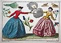 """""""Two women"""". Augsburg, Martin Engelbrecht, 1740 - 1750 circa.jpg"""