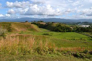 Battlefield - Location of the World War II Battle of Edson's Ridge in the Solomon Islands, 12–14 September 1942, as seen when toured by U.S. Secretary of State John Kerry, 13 August 2014.