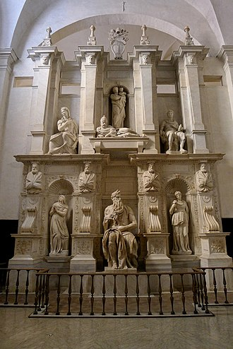 Tomb of Pope Julius II - Image: 'Moses' by Michelangelo JBU010