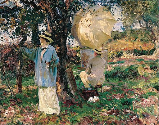 'The Sketchers', oil on canvas painting by John Singer Sargent, 1914, Virginia Museum of Fine Arts