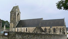 The church in Sainte-Honorine-des-Pertes
