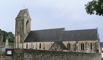 Aure sur Mer - The church in Sainte-Honorine-des-Pertes
