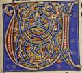 Буквица U. Миниатюра из Абердинского бестиария.png