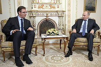 Aleksandar Vučić - Vučić and Russian President Vladimir Putin on a meeting in Moscow.