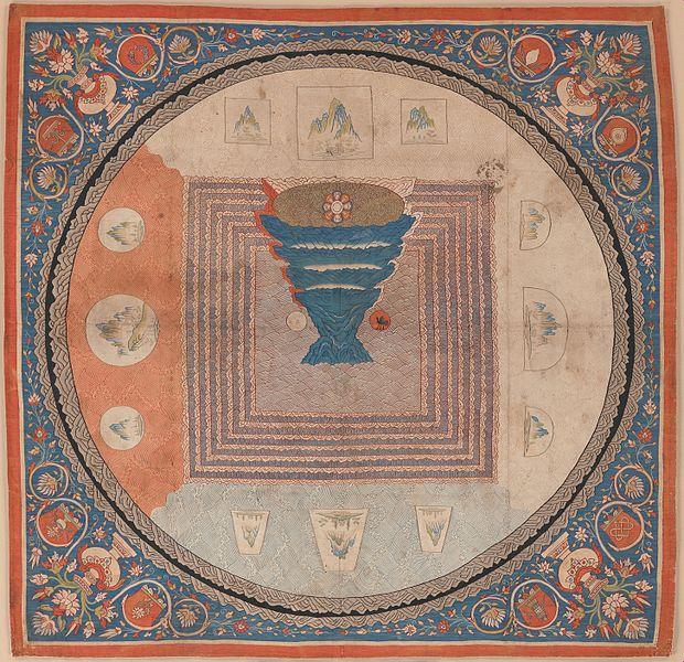 ملف元 緙絲 須彌山曼陀羅 Cosmological Mandala With Mount Meru Met