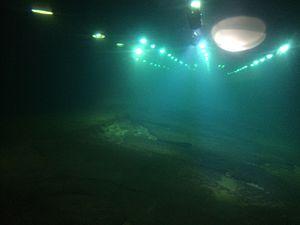 Baiheliang Underwater Museum - Underwater view at the museum.