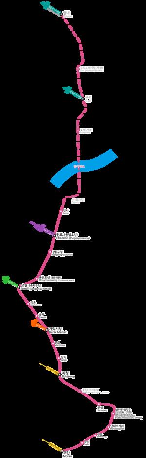 Seoul Subway Line 8 - Image: 서울도시철도공사8호선노선도