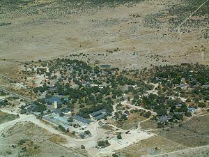 Okaukuejo - Aerial view of Okaukuejo