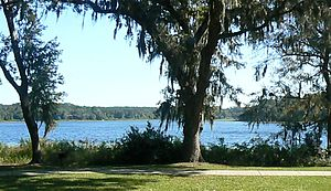 Lake Hall - View from Alfred B. Maclay Gardens State Park (September 2007)