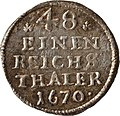 1-48 Taler (6 Pfennige) , Landesdenkmalamt Berlin, Ausgrabung U5, 564 – 428, Vorderseite.jpg