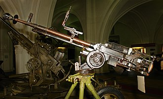 41st Guards Rocket Division - Brusov's DShK machine gun, displayed in the Military Historical Museum of Artillery, Engineers and Signal Corps