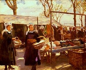Joseph-Félix Bouchor - Image: 123 Joseph Félix Bouchor Marché à Concarneau