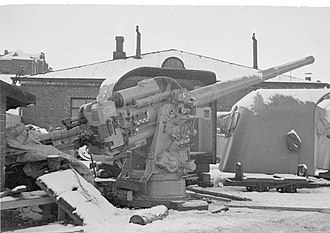 130 mm/50 B13 Pattern 1936 - One of the 130/50 N guns captured by Finland