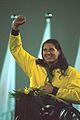 141100 - Athletics wheelchair racing Louise Sauvage medal podium - 2000 Sydney podium photo.jpg