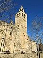 144 Monestir de Sant Cugat del Vallès, façana sud, campanar.JPG