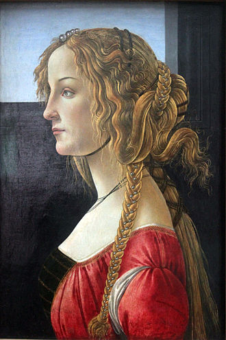 Susanna and the Elders (Tintoretto) - Image: 1460 65 Botticelli Profile portrait of young woman anagoria