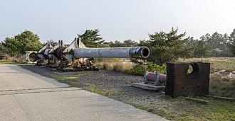 Fort Miles - Image: 16 inch gun Fort Miles DE1