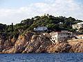 174 Port Salvi (Sant Feliu de Guíxols), amb l'ermita de Sant Elm al fons.JPG