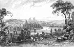 Timeline of Exeter - View of Exeter, 1803