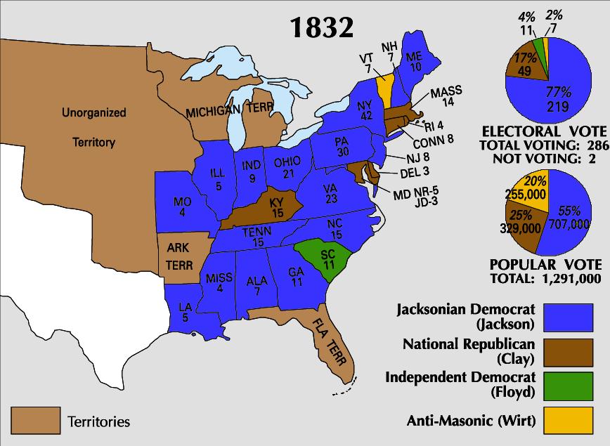 1832 Electoral Map