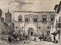 1844, España artística y monumental, vistas y descripción de los sitios y monumentos más notables de españa, vol 2, Plaza de los Momos en Zamora (cropped).jpg