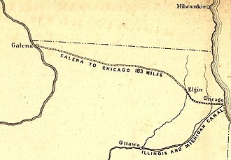 Galena and Chicago Union Railroad - Image: 1850 Galena & Chicago Union