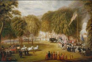 William Sharp (lithographer) - Image: 1851 Railroad Jubilee On Boston Common by William Sharp MFA Boston