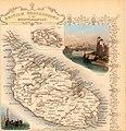 1851 Tallis map of Malta (engraved by John Rapkin).jpg