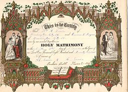 1875 Marriage Certificate