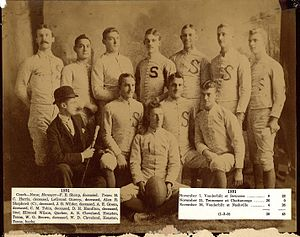 1891 Sewanee Tigers football team - Image: 1891sewaneeteam