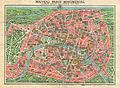 1931 Leconte Map of Paris w-Monuments and Map of the Exposition Coloniale - Geographicus - Paris-leconte-1931 - 1.jpg
