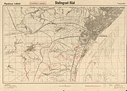 """""""Stalingrad-South"""", 1942 map from the German General Staff"""
