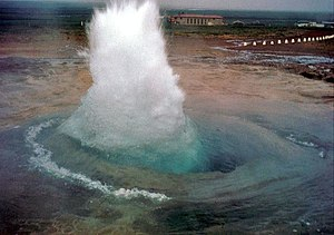 Geography of Iceland - A geyser in Iceland