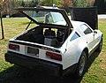1974 Bricklin 4 speed white at Potomac Ramblers meeting 03.jpg