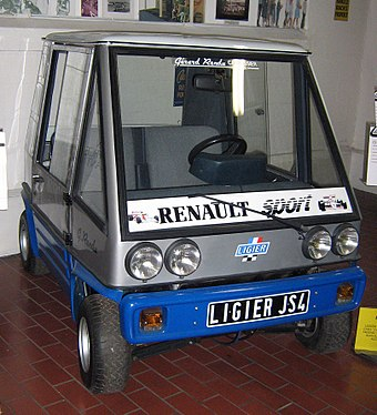 1980 Ligier JS4, the company's first microcar 1980 Ligier JS4 (3448605638).jpg