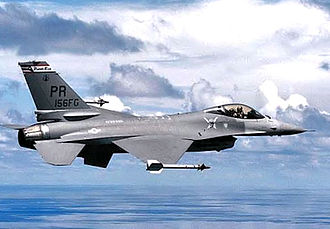 156th Airlift Wing - 198th Fighter Squadron Block 15 F-16A ADF Fighting Falcon 82-0995