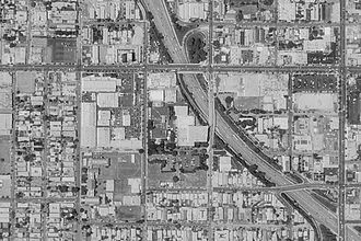 Metromedia Square - Satellite image of Metromedia Square from May 1994