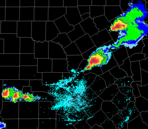 1997 Central Texas tornado outbreak - Image: 1997 Central Texas tornado outbreak radar 2048z