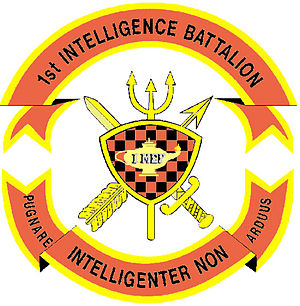 Command element (United States Marine Corps) - Image: 1st Intel Battalion Insignia