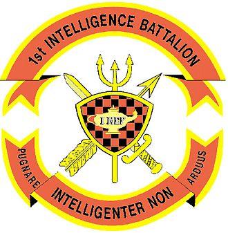 Command element (United States Marine Corps) - Image: 1st Intel Battalion Insignia