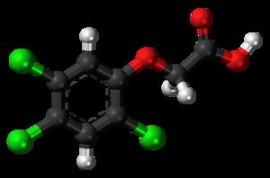 2,4,5-Trichlorophenoxyacetic acid - Image: 2,4,5 Trichlorophenoxyacet ic acid 3D balls