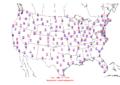2006-01-10 Max-min Temperature Map NOAA.png