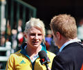 2008 Australian Olympic team Leisel Jones and 7 reporter Dylan Howard - Sarah Ewart.jpg