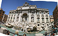 20090802 Panorama, Trevi Fountain, Rome, Italy.JPG